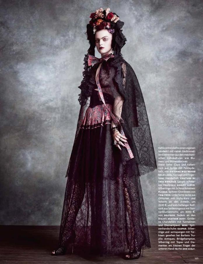 Frida Kahlo: Guinevere Van Seenus Av Luigi + Iango För Vogue Tyskland Juni 2014