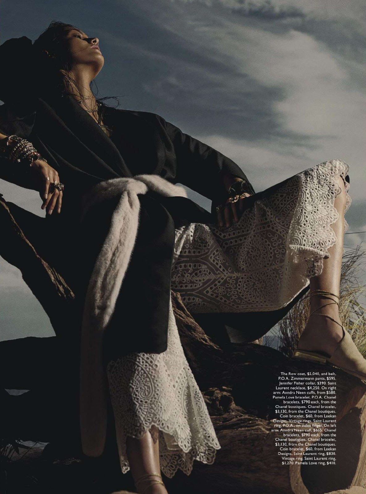On A Hot Summer's Night: Ronja Furrer By Robbie Fimmano For Vogue Australia January 2015